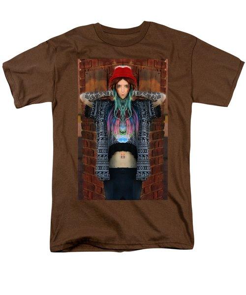 Red Hat Grunge Men's T-Shirt  (Regular Fit) by Pamela Patch