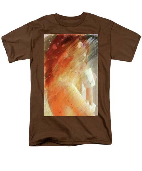 Men's T-Shirt  (Regular Fit) featuring the digital art Red Head Drinking Coffee by Andrea Barbieri