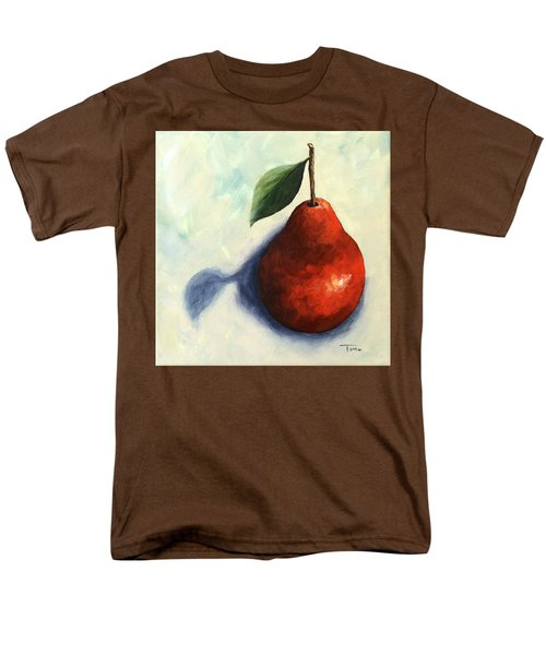 Red Pear In The Spotlight Men's T-Shirt  (Regular Fit) by Torrie Smiley