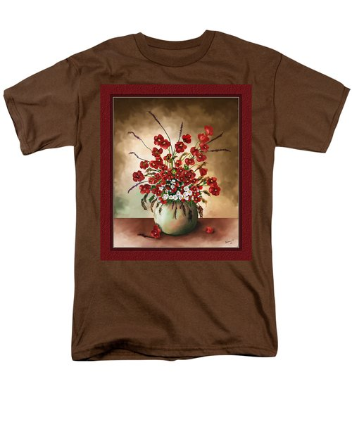 Men's T-Shirt  (Regular Fit) featuring the digital art Red Poppies by Susan Kinney