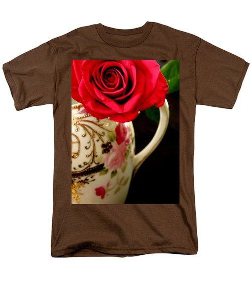 Red Red Rose Men's T-Shirt  (Regular Fit) by Lainie Wrightson