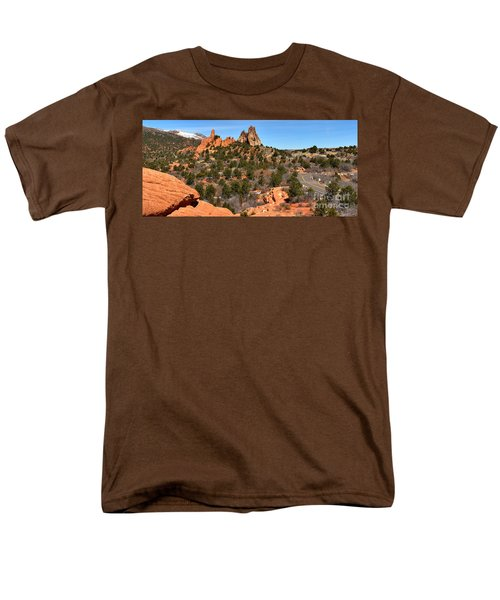 Men's T-Shirt  (Regular Fit) featuring the photograph Red Rocks At High Point by Adam Jewell