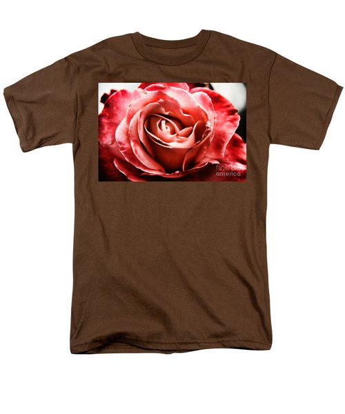 Men's T-Shirt  (Regular Fit) featuring the photograph Red Rose  by Mariola Bitner