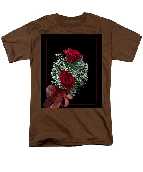 Men's T-Shirt  (Regular Fit) featuring the photograph Red Roses For A Blue Lady by Judy Johnson