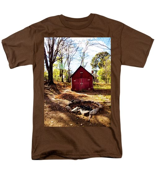 Men's T-Shirt  (Regular Fit) featuring the photograph Red Shed by Randy Sylvia