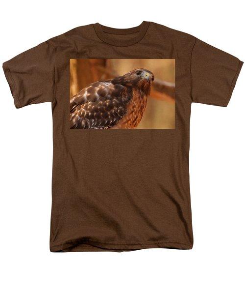 Red Shouldered Hawk 1  Men's T-Shirt  (Regular Fit) by Chris Flees