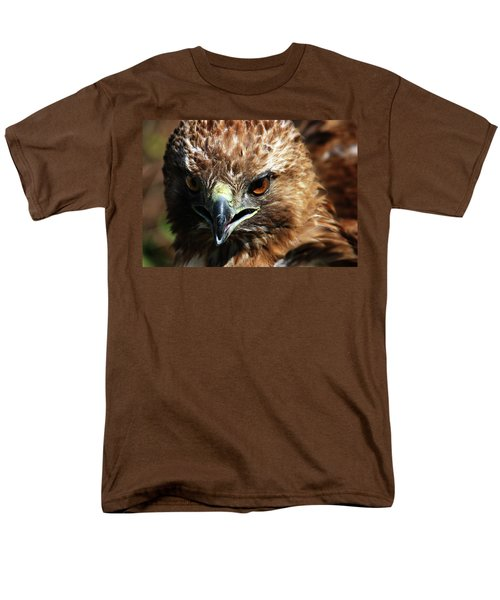 Men's T-Shirt  (Regular Fit) featuring the photograph Red-tail Hawk Portrait by Anthony Jones