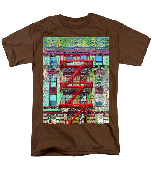 Men's T-Shirt  (Regular Fit) featuring the mixed media Red by Tony Rubino