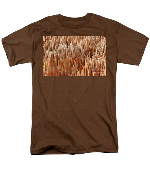 Men's T-Shirt  (Regular Fit) featuring the photograph red Tsingy Madagascar 4 by Rudi Prott