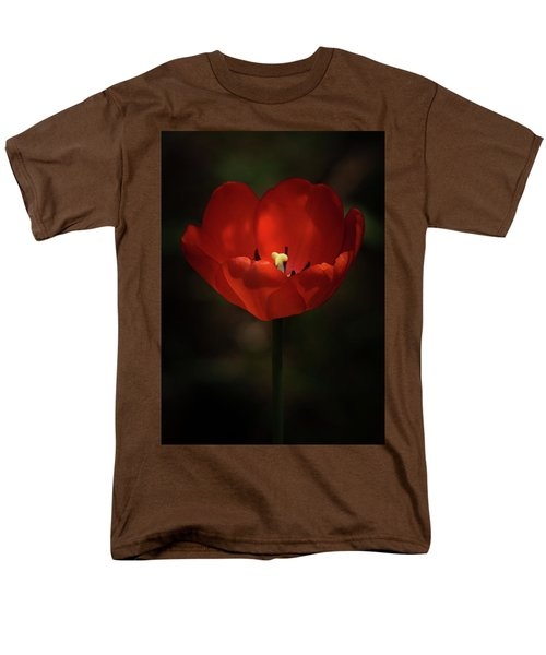 Red Tulip Men's T-Shirt  (Regular Fit)