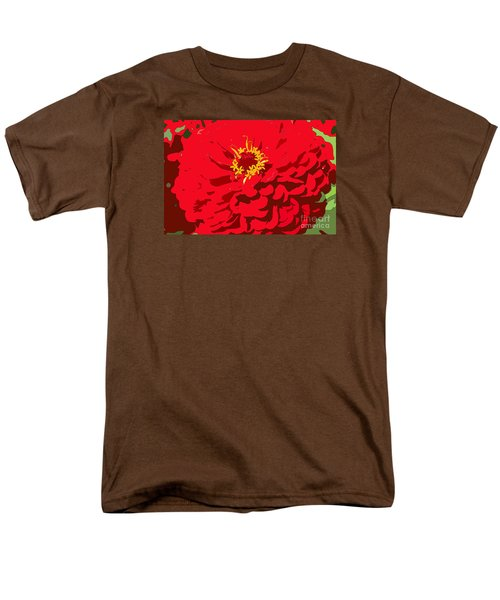 Men's T-Shirt  (Regular Fit) featuring the photograph Red Zinnia by Jeanette French