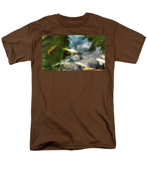 Reflections And Fish  Men's T-Shirt  (Regular Fit) by Isabella F Abbie Shores FRSA