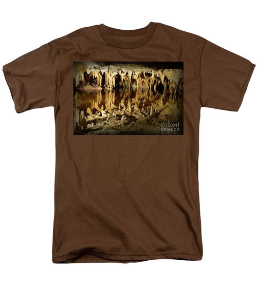 Reflections Of Dream Lake At Luray Caverns Men's T-Shirt  (Regular Fit) by Paul Ward
