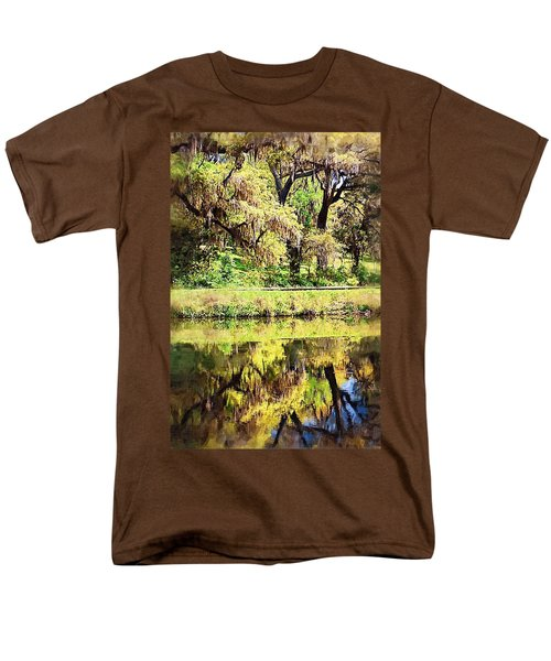 Men's T-Shirt  (Regular Fit) featuring the photograph Reflective Live Oaks by Donna Bentley