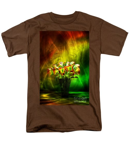 Men's T-Shirt  (Regular Fit) featuring the digital art Reggae Tulips by Johnny Hildingsson