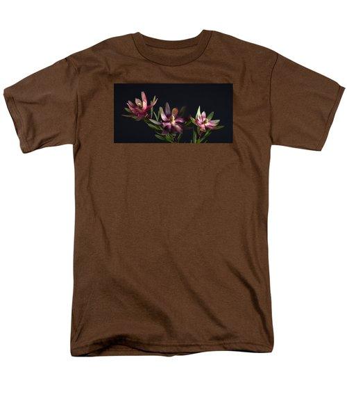 Red Safari Sunset Proteaflora  Men's T-Shirt  (Regular Fit) by Catherine Lau