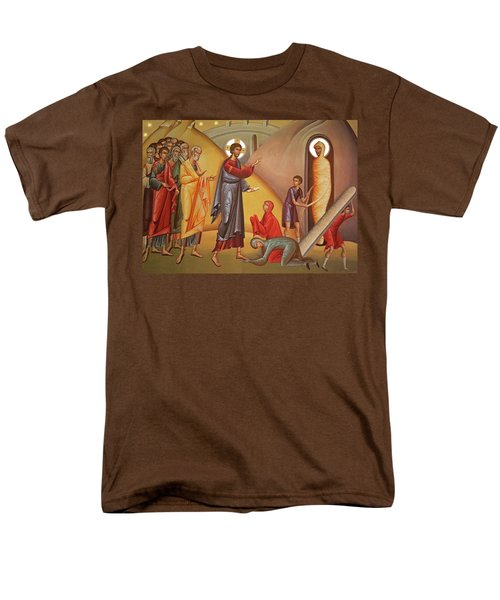 Men's T-Shirt  (Regular Fit) featuring the painting Resurrection Of Lazarus by Munir Alawi