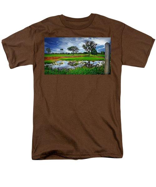 Rice Paddy View Men's T-Shirt  (Regular Fit) by Ian Gledhill