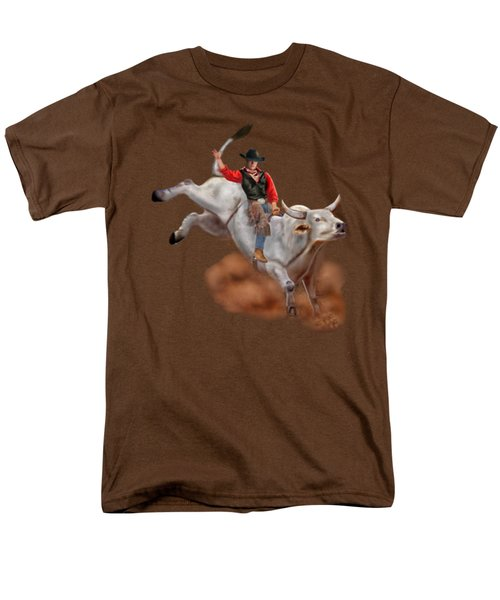 Ride 'em Cowboy Men's T-Shirt  (Regular Fit) by Glenn Holbrook