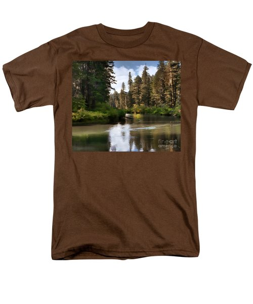 Men's T-Shirt  (Regular Fit) featuring the painting Millers Creek Painterly by Peter Piatt