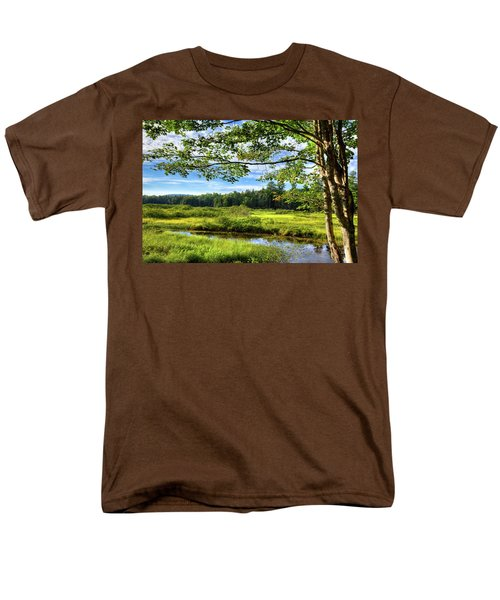 Men's T-Shirt  (Regular Fit) featuring the photograph River Under The Maple Tree by David Patterson