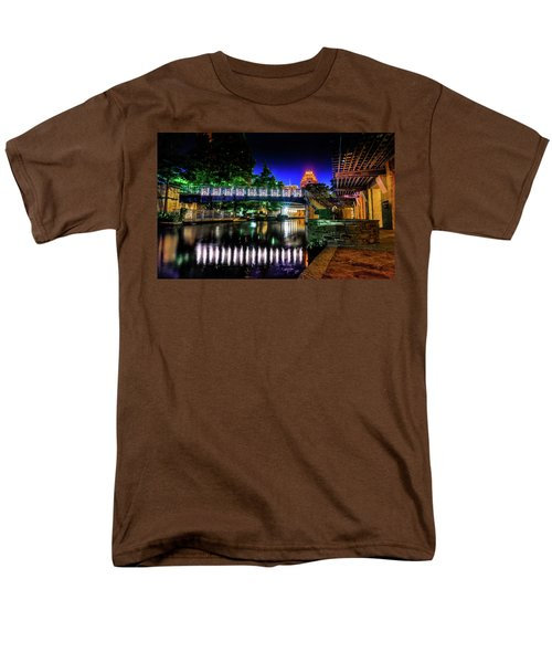 Riverwalk Bridge Men's T-Shirt  (Regular Fit) by Mark Dunton