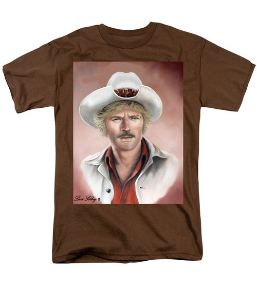 Men's T-Shirt  (Regular Fit) featuring the painting Robert Redford by Loxi Sibley