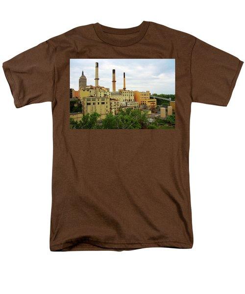 Rochester, Ny - Factory And Smokestacks 2005 Men's T-Shirt  (Regular Fit) by Frank Romeo