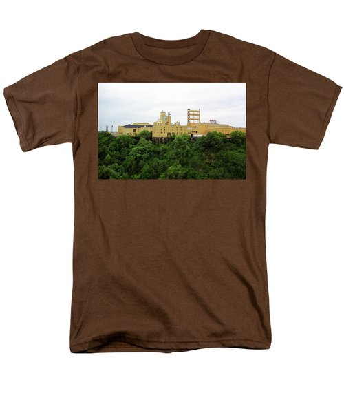 Men's T-Shirt  (Regular Fit) featuring the photograph Rochester, Ny - Factory On A Hill by Frank Romeo
