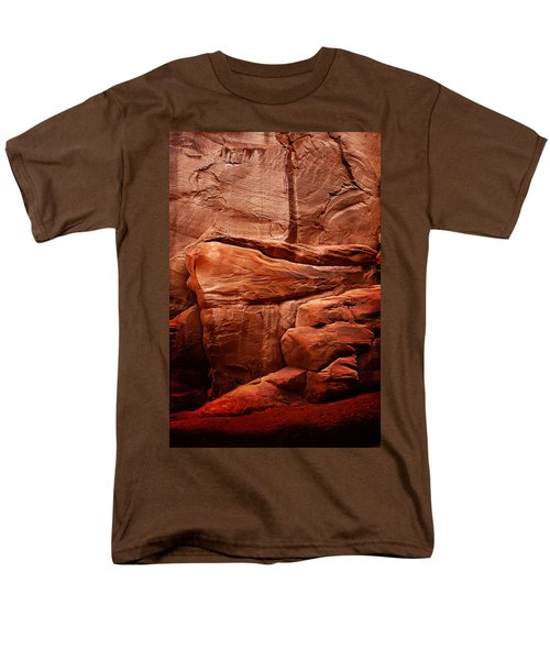 Men's T-Shirt  (Regular Fit) featuring the photograph Rock Face by Harry Spitz