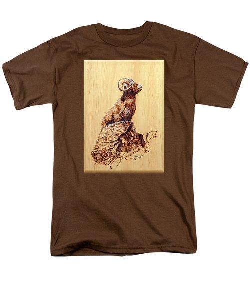 Rocky Mountain Bighorn Sheep Men's T-Shirt  (Regular Fit) by Ron Haist