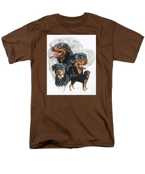Rottweiler W/ghost  Men's T-Shirt  (Regular Fit) by Barbara Keith