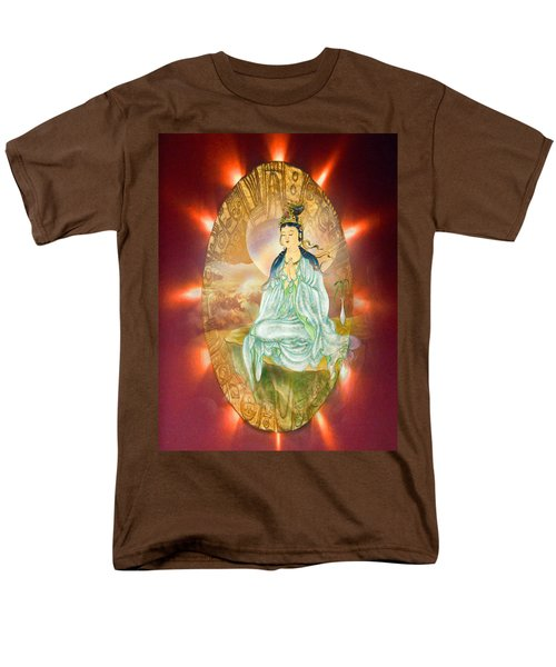 Men's T-Shirt  (Regular Fit) featuring the photograph Round Halo Kuan Yin by Lanjee Chee