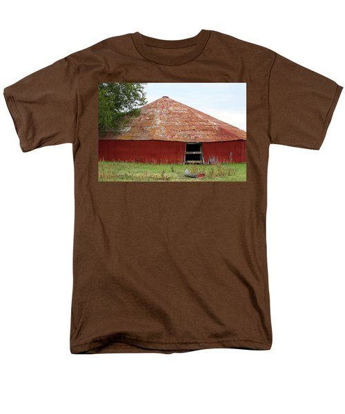 Men's T-Shirt  (Regular Fit) featuring the photograph Round Red Barn by Sheila Brown