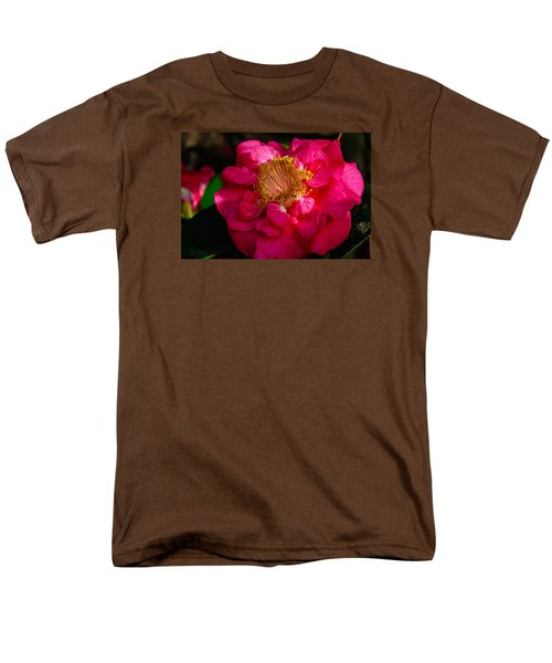 Men's T-Shirt  (Regular Fit) featuring the photograph Ruffles Of Pink  by John Harding