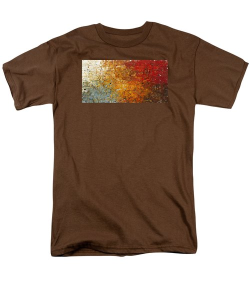 Men's T-Shirt  (Regular Fit) featuring the painting Running Free - Abstract Art by Carmen Guedez