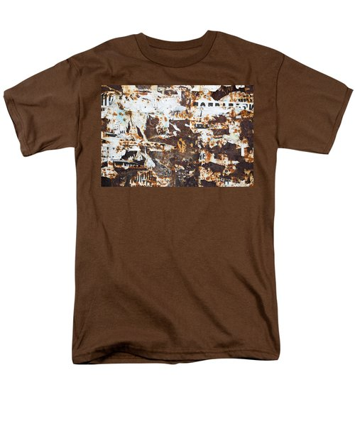 Men's T-Shirt  (Regular Fit) featuring the photograph Rust And Torn Paper Posters by John Williams