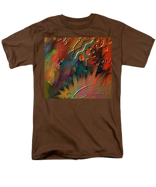 Men's T-Shirt  (Regular Fit) featuring the painting Rust Never Sleeps by Kevin Caudill