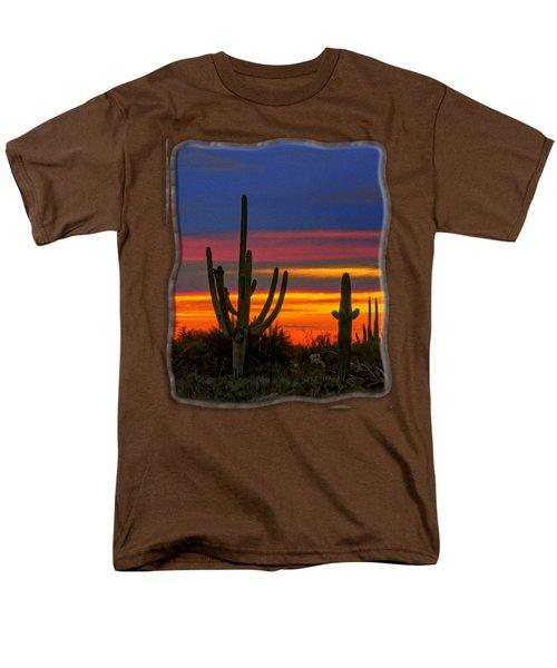Saguaro Sunset V31 Men's T-Shirt  (Regular Fit) by Mark Myhaver