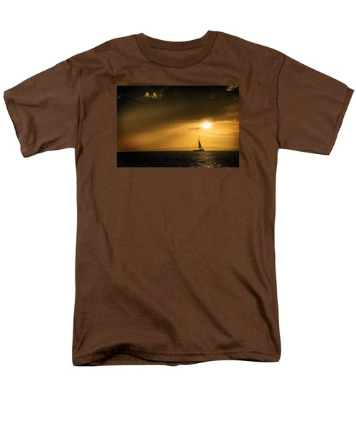 Men's T-Shirt  (Regular Fit) featuring the photograph Sail Away Maui by Janis Knight