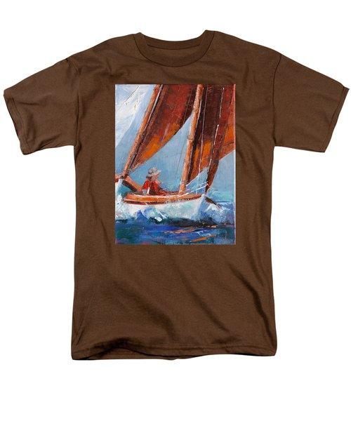 Sailboat Therapy Men's T-Shirt  (Regular Fit) by Trina Teele