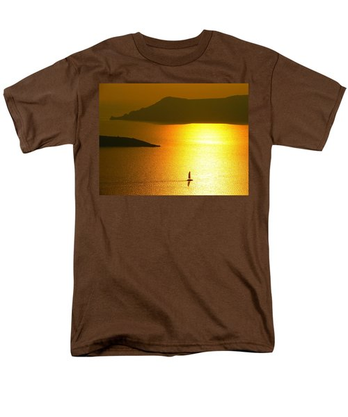 Men's T-Shirt  (Regular Fit) featuring the photograph Sailing On Gold 1 by Ana Maria Edulescu
