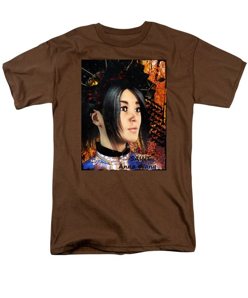 Men's T-Shirt  (Regular Fit) featuring the painting Saint Anna Of China by Suzanne Silvir
