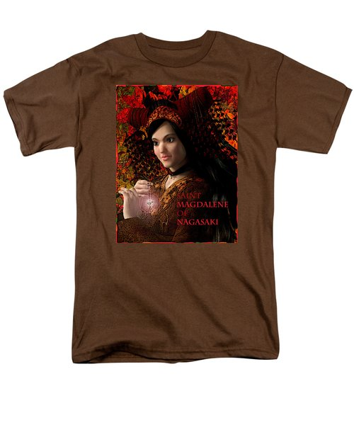 Men's T-Shirt  (Regular Fit) featuring the painting Saint Magdalene Of Japan by Suzanne Silvir