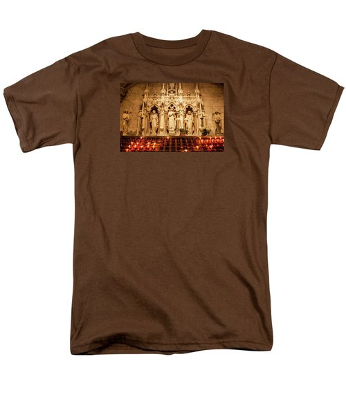 Saint Rose Of Lima Altar Men's T-Shirt  (Regular Fit) by Jean Haynes