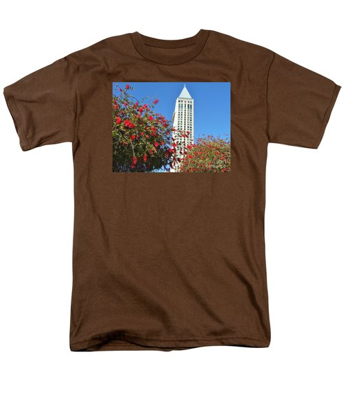 Men's T-Shirt  (Regular Fit) featuring the photograph San Diego Building In Blossom by Jasna Gopic