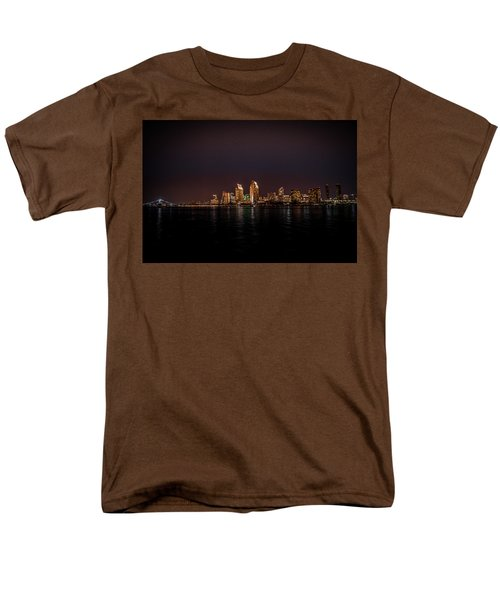 Men's T-Shirt  (Regular Fit) featuring the photograph San Diego Harbor by John Johnson
