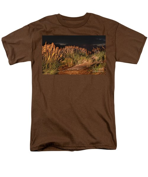 Sand Dunes At Night On The Outer Banks Men's T-Shirt  (Regular Fit) by Dan Carmichael
