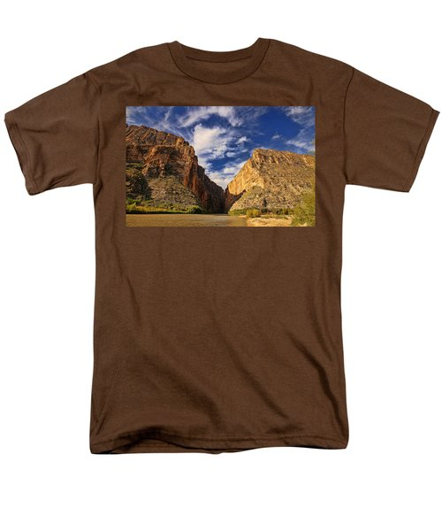 Santa Elena Canyon 3 Men's T-Shirt  (Regular Fit) by Judy Vincent