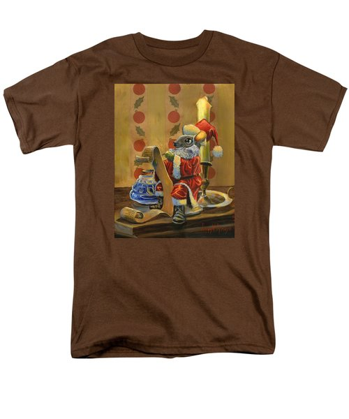 Santa Mouse Men's T-Shirt  (Regular Fit) by Jeff Brimley